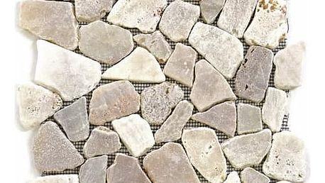 Divero Garth 573 Mozaika říční kámen - krémová 1m2 - 30x30x1,5 cm
