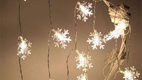 LED světýlka v podobě sněhové vločky - 3 m