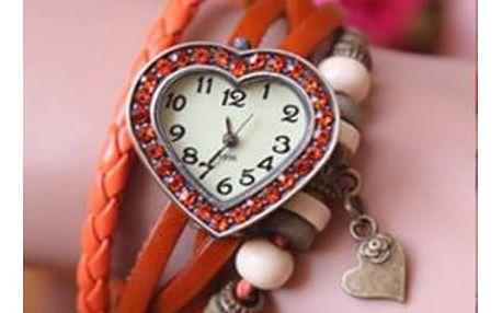 hodinky tvar srdce