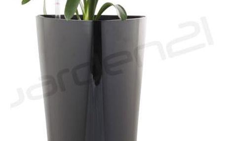 G21 Trio Samozavlažovací květináč černý 56.5cm