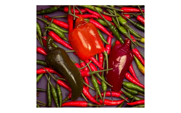 Gumové chilli papričky
