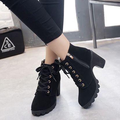 Šněrovací boty na podpatku