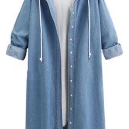 Dámský džínový kabát