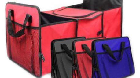 Praktický organizér do kufru auta Vám bude dobrým pomocníkem při cestách autem.