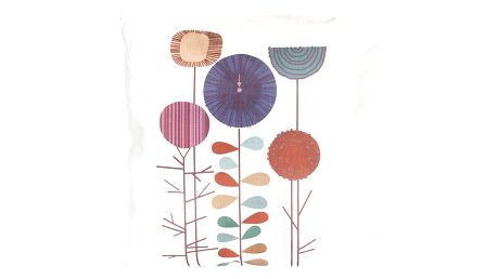 Povlak na polštář květy lněný