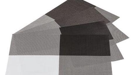 Jahu Prostírání DeLuxe hnědá, sada 4 kusů, 30x45 cm