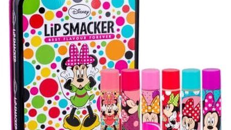 Lip Smacker Disney Minnie Mouse dárková kazeta pro děti balzám na rty 6 x 4 g + plechová krabička