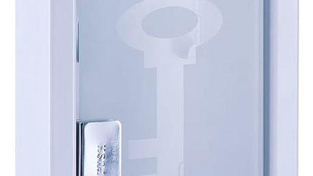 Kovový věšák na klíče, bílá barva, ZELLER