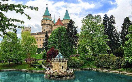 Střední Slovensko v termálním městě Bojnice v hotelu v podzámčí s polopenzí – i s wellness nebo speciálně pro seniory
