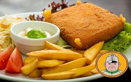 Smažený sýr s přílohou a salátem pro 2 ve Švejk Restaurantu Strašnice v Praze