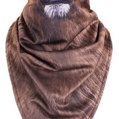 Pánský šátek s 3D motivy zvířat - 4 varianty