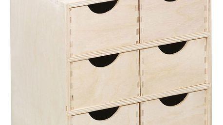 Kontejner na drobnosti, 6xzásuvka, dřevěný , ZELLER