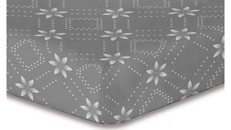 DecoKing Prostěradlo Snowynight šedá S1 mikrovlákno, 90 x 200 cm
