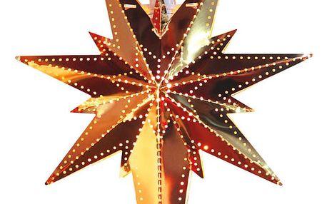STAR TRADING Plechová závěsná hvězda Copper Betlehem, měděná barva, kov