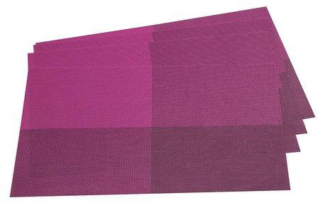 Jahu Prostírání DeLuxe fialová, 30 x 45 cm, sada 4 ks