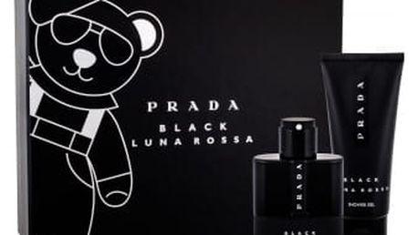Prada Luna Rossa Black dárková kazeta pro muže parfémovaná voda 50 ml + sprchový gel 100 ml