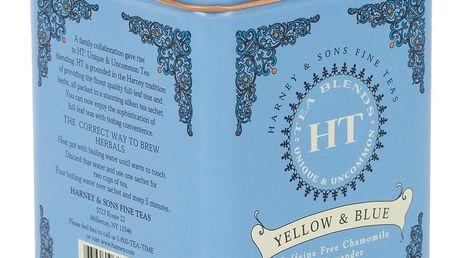 HARNEY & SONS Bylinný čaj Yellow and Blue, modrá barva, kov