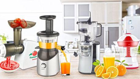 Elektrické odšťavňovače na ovoce i zeleninu