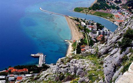 Chorvatsko - Omiš na 8 až 10 dní, bez stravy s dopravou vlastní nebo autobusem