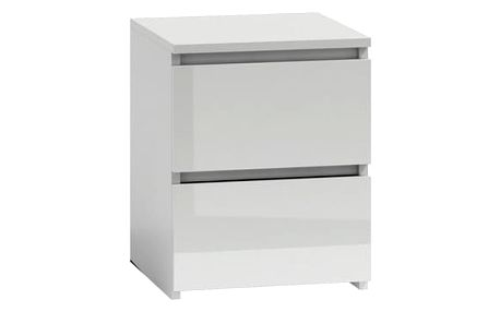 Noční stolek W2 bílá lesklá