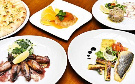 Degustační menu s rybou a mořskými plody pro 2