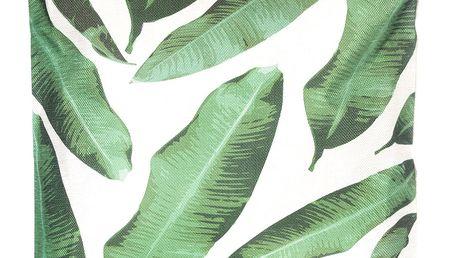 Povlak na polštář zelené listy lněný