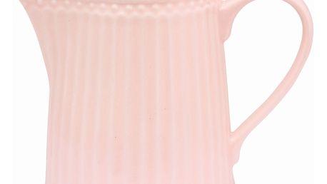 GREEN GATE Džbánek na smetanu Alice pale pink 250ml, růžová barva, porcelán