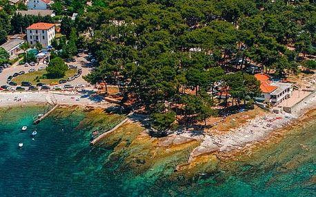 Chorvatsko - Istrie na 8 až 10 dní, bez stravy nebo polopenze s nápoji s dopravou autobusem nebo vlastní 150 m od pláže