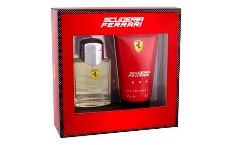 Ferrari Scuderia Ferrari Red dárková kazeta pro muže toaletní voda 75 ml + sprchový gel 150 ml