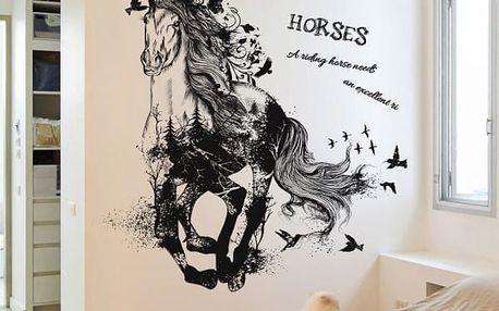 Samolepka s černým koněm