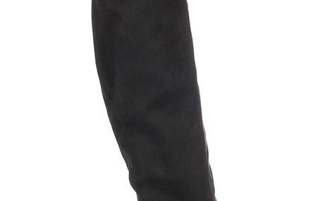 Modern World Mušketýrky dámské kozačky nad kolena na podpatku