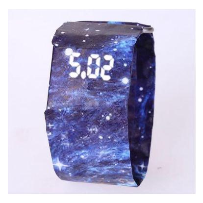 Papírové LED hodinky v originálním provedení - 11 variant
