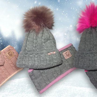 Dětské pletené čepice a nákrčníky