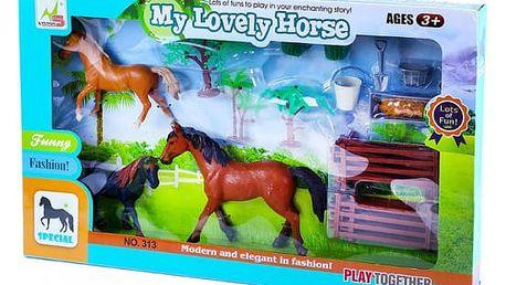Sada koně rodina s příslušenstvím