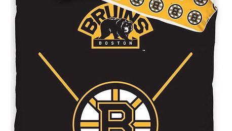 TipTrade Bavlněné svíticí povlečení NHL Boston Bruins, 140 x 200 cm, 70 x 90 cm