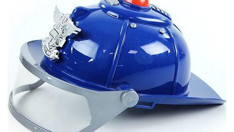 Policejní helma se zvukem a světlem