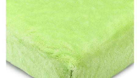 4Home prostěradlo mikroflanel zelená, 90 x 200 cm
