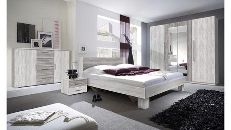 VIERA ložnice s postelí 180x200 cm, borovice canyon světlá/borovice canyon tmavá