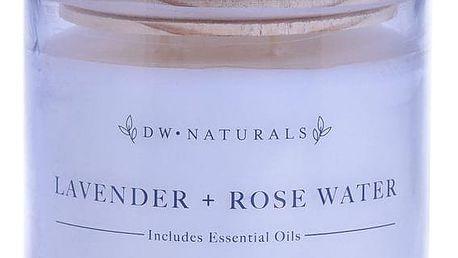 dw HOME Vonná svíčka ve skle Lavender Rose 500g, fialová barva, sklo, dřevo, vosk