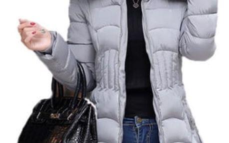 Dámská prošívaná bunda v plus size velikostech