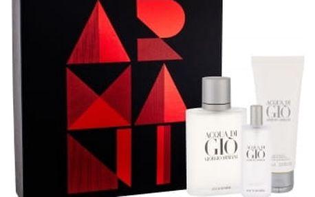 Giorgio Armani Acqua di Gio Pour Homme dárková kazeta pro muže toaletní voda 100 ml + toaletní voda 15 ml + sprchový gel 75 ml