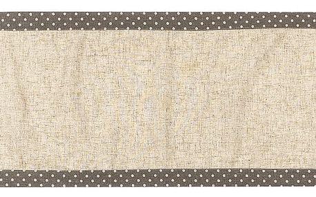 BO-MA Trading Vánoční běhoun Srdíčka puntík šedá, 40 x 140 cm
