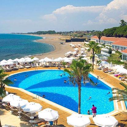 Turecko - Side na 8 až 11 dní, all inclusive s dopravou letecky z Prahy přímo na pláži