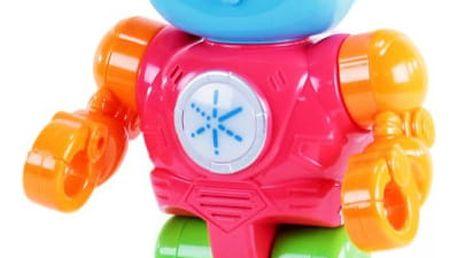 Barevný robot opakující slova