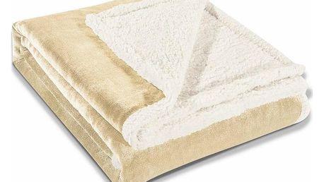 DecoKing Beránková deka Teddy krémová, 150 x 200 cm