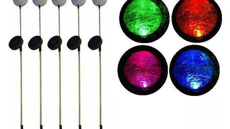 Garthen REMO 284 zahradní LED sada solárních světel - koule s barevnou změnou 5 ks