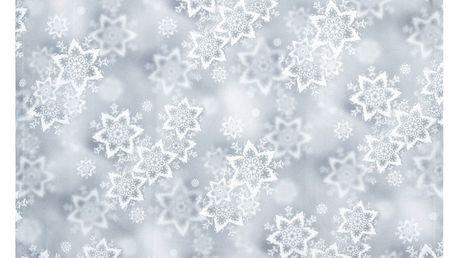 Forbyt Vánoční ubrus Hvězdy stříbrná, 120 x 140 cm