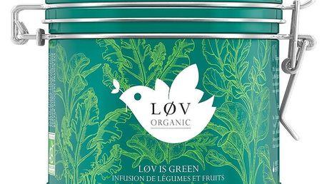 Løv Organic Ovocně zeleninový čaj LØV IS GREEN, zelená barva, kov - Løv Organic Løv is Green kovová dóza 100 g