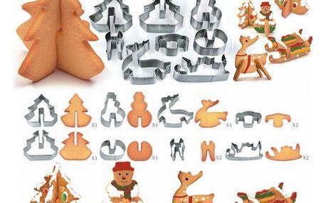8 kusů vánočních 3D vykrajovátek