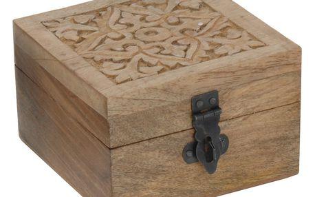 Home Styling Collection Dřevěný box - přírodní barva dřeva